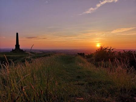 Sunrise from the Ham Hill Monument (South Somerset DC)