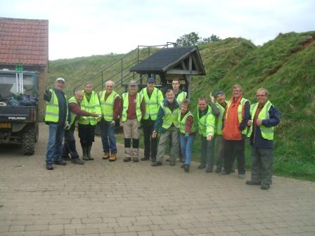 Volunteer Wednesday with Paul fourth from the right taking a bow  (South Somerset DC)