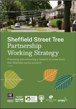 The working strategy document - a guide to the future management of Sheffield Street Trees - credit Sheffield Street Tree Partnership