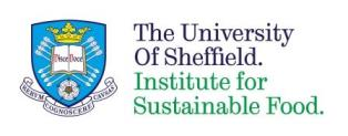 Logo: University of Sheffield - Institute for Sustainable Food