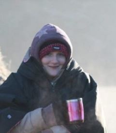 Person warming up in the cold (Cory Jones)