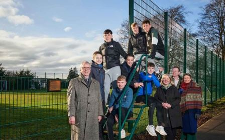 The Gannochy Young Placechangers group at the completion of their project February 2020 (greenspace scotland)