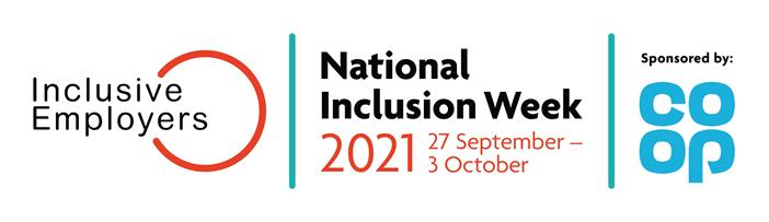 Logo: Inclusive Employers and National Inclusion Week sponsored by COOP