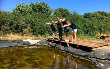 Students making a boardwalk (Brian Heppenstall)