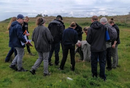 Hill surveys with an expert from Oxford University (Brian Heppenstall)