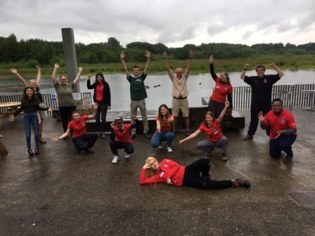 July 3rd 2021. The Youth Council's Quarterly meeting at Brockholes Nature Reserve with Steve Garland Chair of LWT Trustee Board (Alan Wright)