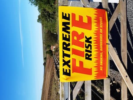North York Moors National Park 'extreme fire' sign Goathland! (North Yorkshire Fire & Rescue Service)