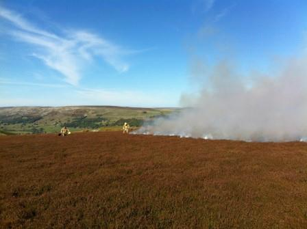 Moor fire, North Yorkshire October 2014 (North Yorkshire Fire & Rescue Service)