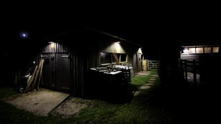 Lighting on the same barn After (NYMNPA)