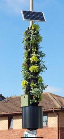 Smart Pollinator Pillar, Kent Street, Liverpool (Juliet Staples, Liverpool City Council)