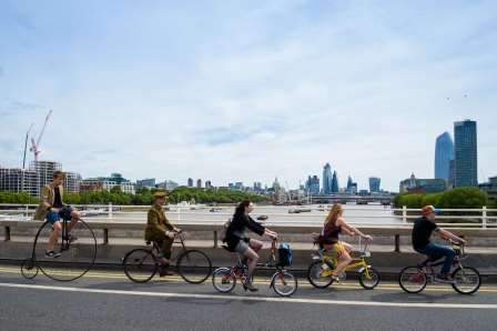 Cycling through the ages at the launch of Bike Week 2019 in London (Anthony Upton)