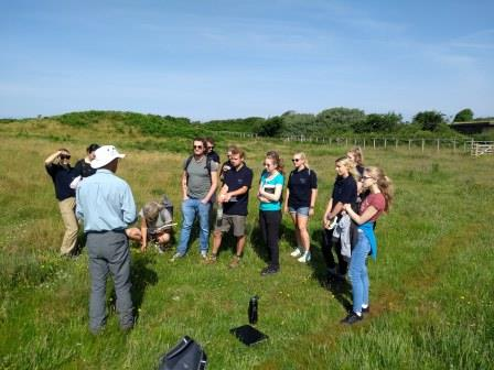 Hengistbury Head 2018 placements, learning botany ID from Jim  White (MBE) (Brian Heppenstall)