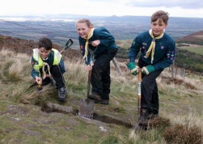 Cleveland Way Adoption Scheme scouts in action  (North York Moors National Park)