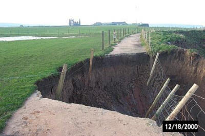 Coastal erosion back in 2000 near Whitby  (North York Moors National Park)