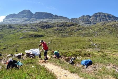 JMT volunteers suilven path work June 2018 (Chris Puddephatt)