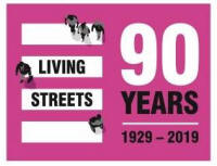 logo: Living Street at 90