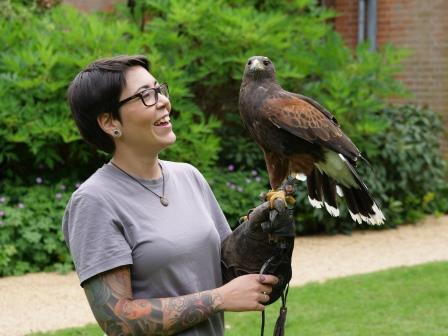 Falconry student © Capel Manor College