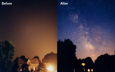 Excessive lighting causes sky glow, which significantly impacts on the ability to see stars at night (Courtesy: International Dark-Sky Association)