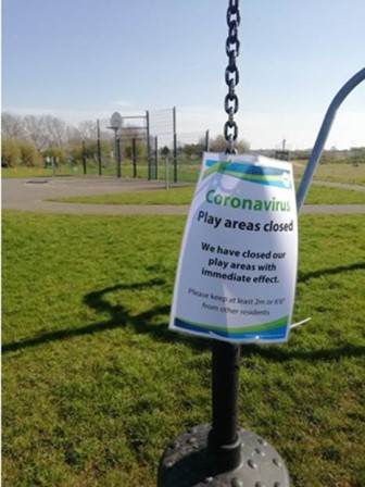 All play areas and outdoor sports facilities have been closed. Credit Rugby Borough Council