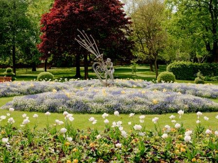 Caldecott Park in Rugby still blooming in lockdown. Credit Rugby Borough Council