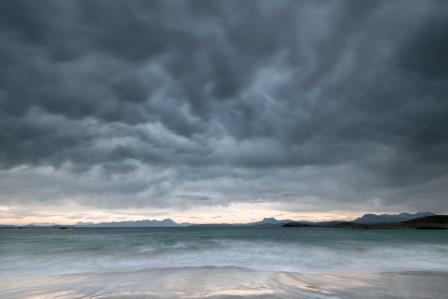 During this visit an angry storm front built up and moment later the rain and powerful winds arrived (Paul Gallagher)