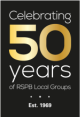 Logo: Celebrating 50 years of RSPB groups