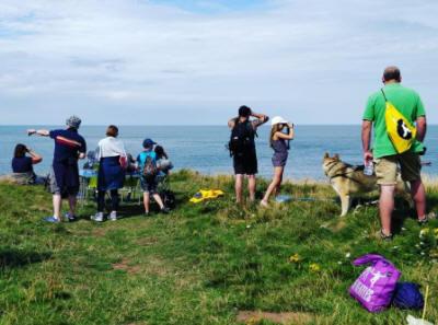 Volunteer Sea-watchers at Eyemouth Fort on 5 Aug 2018  Photo credit: Eyemouth Voluntary Marine Reserve