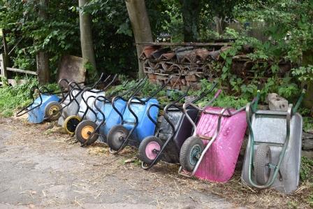 Wheelbarrows at Windmill Hill City Farm, Bristol (Social Farms & Gardens)