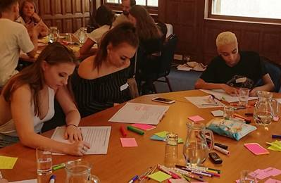 Young people participating in one of the 16 focus groups that were held across England as part of the research (Defra)