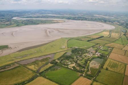 View of Slimbridge and Severn estuary (Sasha Dench/WWT)
