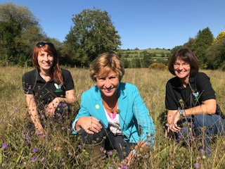 YoGA award runners-up: Butterfly Conservation's All The Moor butterflies project staff with Defra Minister Rebecca Pow