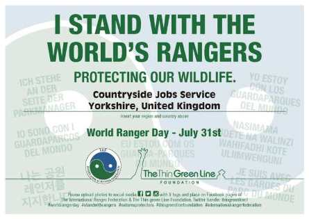 I stand with the world's rangers