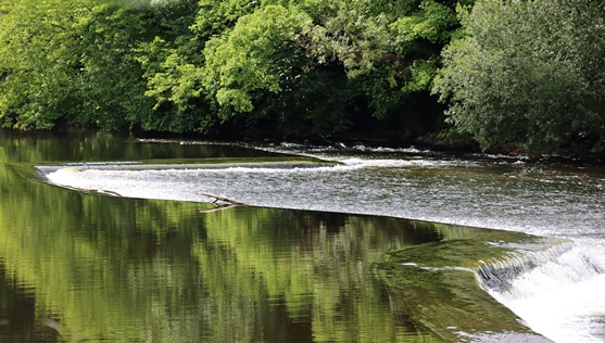 view of the river at Llangollen Weir (Credit: Natural Resources Wales)