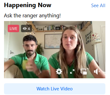 screen grab of the facebook live event