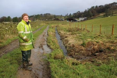 'I saw a dragonfly here last summer,' said farmer Anthony Bradley next to Mearbeck, which has been fenced off to create a wildlife friendly area (Yorkshire Dales National Park Authority)