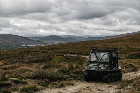 Argocat, four wheel drive vehicle on moorland (Grant Anderson, Crown Estate Scotland)