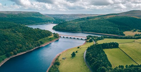 aerial view of a river Image: Unsplash