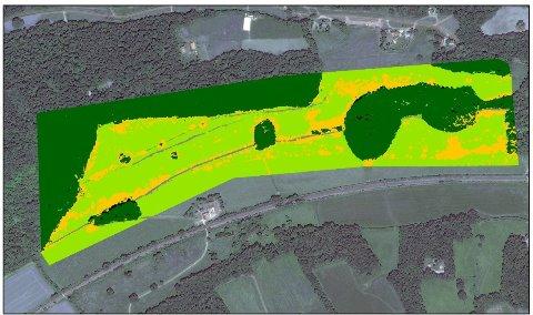 Small blue butterfly habitat satellite image (University of Surrey)