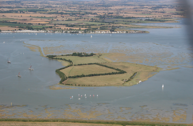 Northey Island from the air. Credit - Terry Joyce