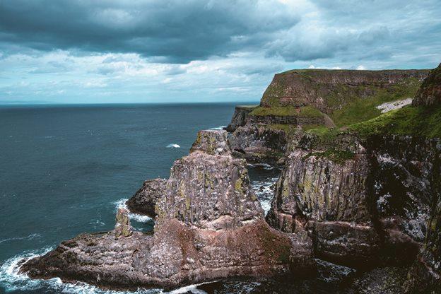 view of Rathlin Island cliffs