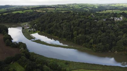 Aerial photo of the site successfully flooded (Steve Haywood)