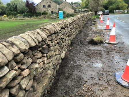 Completed section of wall (credit DSWAPL/J Taylor)