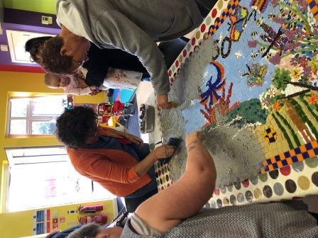 Mosaic-making at the Phoenix Centre, Rhyl (Katrina Day)
