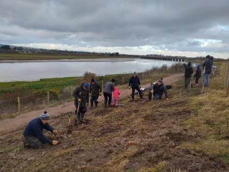 Tree planting at Glan Morfa, Rhyl (Claudia Smith)