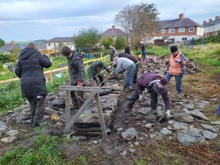 Volunteer trip to the Corwen allotments (Claudia Smith)