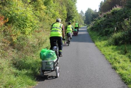 Scotland volunteers help keep the National Cycle Network clean with a litter pick as part of Spring Clean 2019 (Keep Scotland Beautiful)