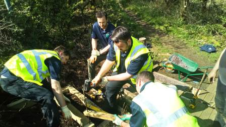Trainees taking part in practical conservation work (TCV)