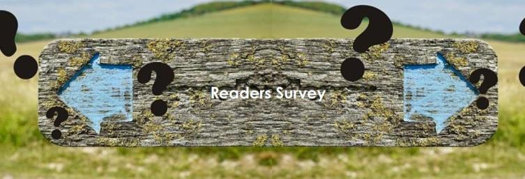 double eded wooden signpost saying Reader Seruvey
