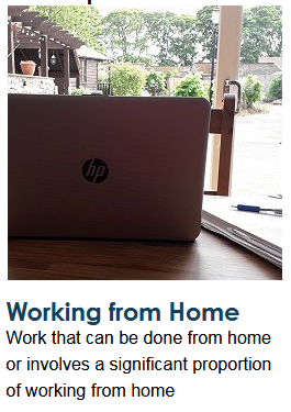 working from home image (laptop on a table)