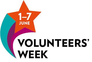 logo: Volunteers' Week 1-7 June